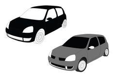 Renault-clio, kleines Auto lizenzfreie abbildung