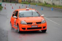 Renault Clio na raça Fotografia de Stock Royalty Free