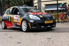 Renault Clio Rally-auto Stock Afbeelding