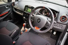 Renault Clio RS Cup 2014 interior Stock Photos