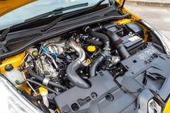 Renault CLIO RS motor 2017 Arkivbilder