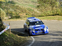 Renault Clio S1600 Rally. The Renault Clio S1600  driven by Pietro Penserini during the 9th edition of Rally del Rubicone, october 24, 2010 Stock Photo