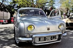 Renault Dauphine Gordini gray Stock Photography