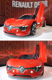 Renault Dezir en la exhibición en la sala de exposición Fotografía de archivo libre de regalías