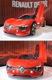 Renault Dezir na exposição na sala de exposições Fotografia de Stock Royalty Free