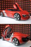 Renault Dezir på skärm i visningslokal Arkivfoto