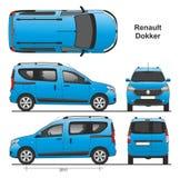 Renault Dokker Passenger Van 2013 Photos libres de droits