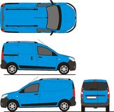 Renault Dokker Van 2013. Detailed drawing for branding, scale 1:10 Stock Illustration