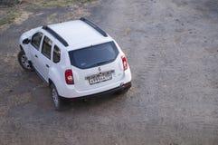 Renault Duster blanco Fotos de archivo