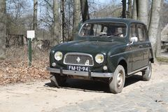 Renault 4 in Dutch Open Air Museum Royalty Free Stock Images