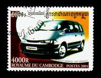 Renault Espace 1997 Frankrijk, Auto's serie, circa 2001 Royalty-vrije Stock Afbeeldingen