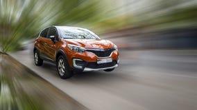 Renault est une voiture rouge image libre de droits