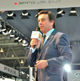 Renault executive speech. Renault executives propaganda speech in chengdu international auto show.Show time: on August 30, 2013 to September 8, 2013 Stock Photography