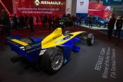 Renault F1 racing car. Frankfurt international motor show (IAA) 2015. Renault F1 racing car Stock Image