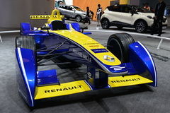 Renault F1 racing car. Guangzhou, China - November 21, 2015: Renault Formula One car was exhibited in the 13th China (Guangzhou) International Automobile Stock Images