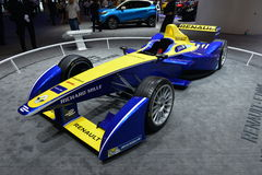Renault F1 racing car. Guangzhou, China - November 21, 2015: Renault Formula One car was exhibited in the 13th China (Guangzhou) International Automobile Royalty Free Stock Image
