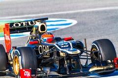 Лотос Renault F1 команды, Romain Grosjean, 2012 Стоковое Изображение