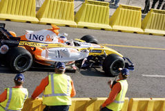 Renault F1 2007 Spec Marshals Royalty Free Stock Photos