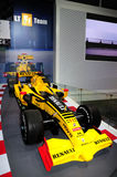 Renault F1 racing car. Guangzhou, China - November 23, 2012: Renault Formula One car was exhibited in the 10th China (Guangzhou) International Automobile Stock Photography