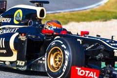 小组莲花Renault F1, Romain Grosjean 2012年 免版税库存照片