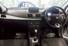 Renault Fluence Dashboard Arkivfoto