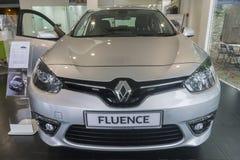 Renault Fluence Silver royaltyfria bilder