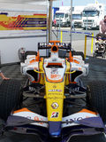 Renault Formula 1. Formula 1 bolid  at world series by Renault - Silverstone - England Royalty Free Stock Photography