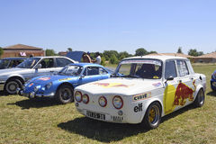 Renault 8 Gordini racing equipped Stock Photos