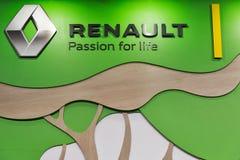 Renault hybrid car booth on Kiev Plug-in Ukraine 2017 Exhibition. Royalty Free Stock Photos