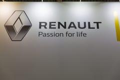 Renault hybrid car booth on Kiev Plug-in Ukraine 2017 Exhibition. Stock Photos
