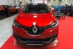 Renault Kadjar visade på den 3rd upplagan av MOTO-SHOWEN i Cracow Polen Royaltyfria Bilder