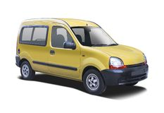 Renault Kangoo amarelo fotos de stock royalty free