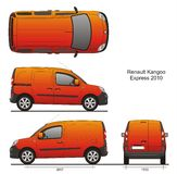 Renault Kangoo Express 2010. Cargo Van 2010, scale 1:10 vector illustration