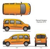 Renault Kangoo Express Combi 2010 Royalty-vrije Stock Afbeelding
