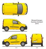 Renault Kangoo Express Compact 2010 stock illustratie