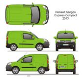Renault Kangoo Express Compact Cargo Van 2013 Blueprint. Renault Kangoo Express Compact Cargo Delivery Van 2013 Isolated in CDR Format Blueprint vector illustration