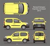 Renault Kangoo Express Compact Passenger-Bestelwagen 2013 Blauwdruk Royalty-vrije Stock Afbeeldingen