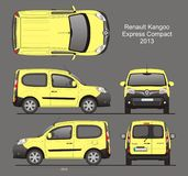 Renault Kangoo Express Compact Passenger Van 2013 Blueprint. Renault Kangoo Express Compact Passenger Van 2013 Isolated in CDR Format Blueprint royalty free illustration