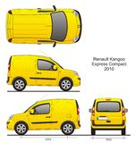 Renault Kangoo Express Compact 2010. Renault Kangoo Express Compact Van 2010, Liftgate Rear Door , scale 1:10 royalty free illustration