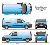 Renault Kangoo Express Maxi 2013 Royalty-vrije Stock Foto's