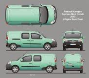 Renault Kangoo Express Maxi Combi-Bestelwagen 2013 Blauwdruk Stock Afbeelding