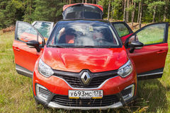 Renault Kaptur frontowy widok fotografia stock