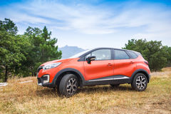 Renault Kaptur utomhus- foto royaltyfria bilder