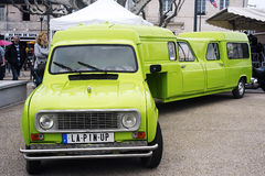 A Renault 4L transformed into semi-trailer Royalty Free Stock Photography