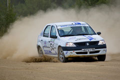 Renault Logan at rally Royalty Free Stock Photography