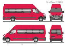 Renault Master Passenger Bus L4H3 2011 Stock Afbeelding