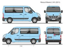 Renault Master Passenger Bus L1H1 2011 Photographie stock