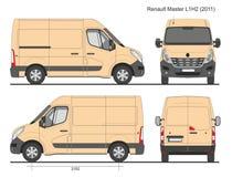 Renault Master Van L1H2 2011 Photographie stock libre de droits