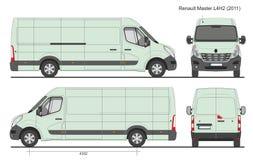 Renault Master Van L4H2 2011 Royalty-vrije Stock Afbeeldingen