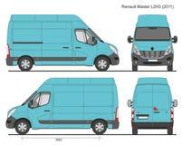Renault Master Van L2H3 2011 Images libres de droits